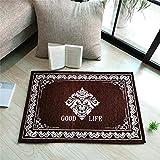 RUIWSFEU Chenille-Matte, Fußmatte, Fußmatte, Fußmatte Teppich, Kaffee_50 * 80cm