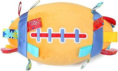 Hemore Baby Football Hand Fang Rattles Spielzeug Glocke Tuch Ball frühe Bildung Plüschspielzeug