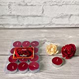 #7: Devinez Scented Rose Smokeless Tealight Candle, (Pack of 12), 4.5 hour Buring