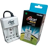 TUSCAN Hi-Plasst Gold Battery Charger for AA, AAA and 9V Batteries, 2 or 4 Charging Channels -TG 002