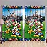 Digital Print Curtain for Window Eyelet Curtain 1 Pc Size - 5x4 Feet