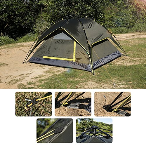 Pop Up Tent LESHP Automatic 3 Person Tent Backpacking Tents for C&ing Hiking Traveling  sc 1 st  Amazon UK & 8 Man Tents for Camping: Amazon.co.uk