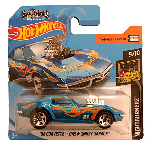 Hot Wheels \'68 Corvette - Gas Monkey Garage - Serie Nightburnerz 9/10 (Short card)