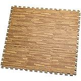 HemingWeigh Stampato il grano di legno ad incastro schiuma Tappetini Anti fatica Puzzle – rende A Superior Fitness, a - Set di 9 tessere (Mix)