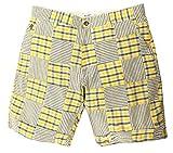Gant Rugger Herren Shorts Gelb/Blau/Weiss R.1. Madras Patchwork Shorts 21831-736, Weite:W32