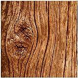Wallario Möbeldesign - Glasbild, Motiv-Glasplatte, Schutzplatte, Abdeckplatte mit Motiv - geeignet für IKEA Lack Tisch, Größe: 55 x 55 cm, Motiv: Holzstamm mit Asteinschluss
