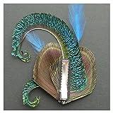 Jelinda women's peacock Bridal headband feather fascinator Headpiece hair accessories (2) Bild 4