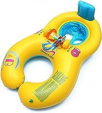 Galleggiante di nuoto per la mamma, 0-18 mesi di seggiolino per il nuoto gonfiabile sicuro per bambini con schienale, seggiolino per il bagnetto per il nuoto, piscina per il nuoto di doppia persona per bambini