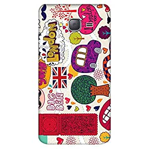Bhishoom Designer Printed Back Case Cover for Samsung On7 (2016) New Edition For 2017 :: Samsung Galaxy On 5 (2017) (London :: Doodle Art :: Big Ben :: London Bridge :: Retro)