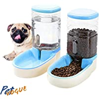 PetVogue Twin Deluxe Pet Bowl,Food Feeder and Water Feeder,Feeding Stations,Dispenses Dog Food or Cat Food,for Dogs Cats…