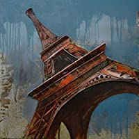 The Urban Port Eiffel Tower Rustic Metal Wall Decor, Multi Color, One size