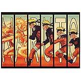 Coaste Antilane Naruto Shippuuden Poster Boruto Poster Anime Fanartikel Manga Poster Wasserdicht Anti-Fade Wanddekoration Wandaufkleber Wandtattoo Wandbilder für Außenbereich / Garten / Badezimmer