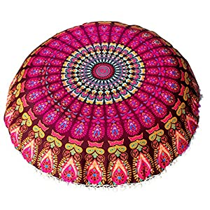 comprar suelos madrid: VJGOAL Large Mandala Floor Pillows Round Bohemia impresión Meditación Cojín Fund...