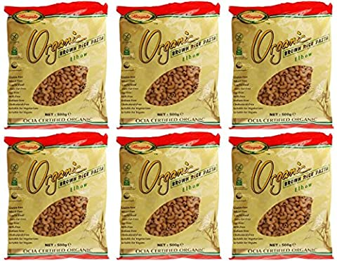 (6 PACK) - Rizopia - Organic Brown Rice Elbows | 500g | 6 PACK BUNDLE