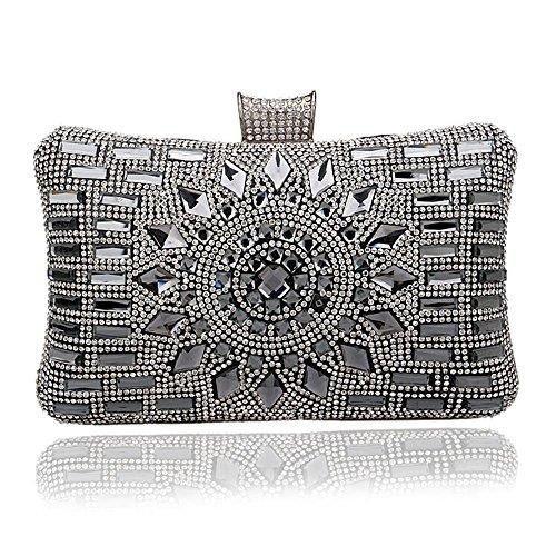 Borse Ladies Diamanti Vestito da banchetto di lusso Borsa da sposa Pacchetto Fine Cena Black