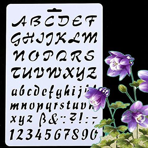 Stencil alfabeto magico stencil decorativi-Script 5-1//4 X 13