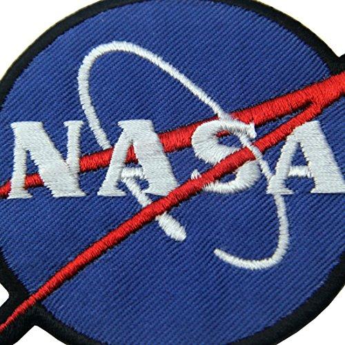 # Toppa ricamata da applicare con ferro da stiro o cucitura, tema: Logo NASA Esploratore spaziale lista dei prezzi