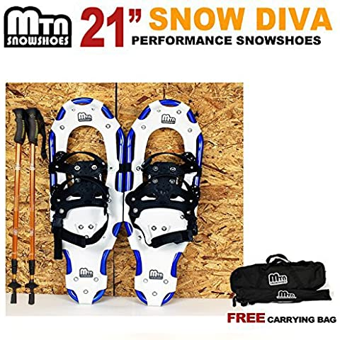 New MTN Man Woman Kid Youth 21 blue Snowshoes with