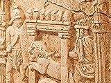 Gladiatoren-Kampf antikes Relief im Circus Maximus Rom - Forum Traiani - Kolosseum der Kampfplatz der Antike - Archäologische Museum Wand-Relief - Gladiator Helm Replik - Imperium der Römer