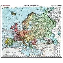 Historsiche Karte: Europa, um 1910 (Plano) (Friedrich Handtke (1815–1879) - Historische Landkarten)