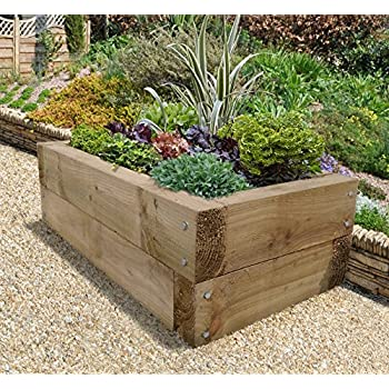Forest sleeper raised bed garden outdoors for Garden design amazon
