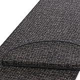 casa pura Läufer | Grau gekästeltes Muster | Qualitätsprodukt aus Deutschland | Gut Siegel | Kombinierbar mit Stufenmatten | Viele Breiten und Längen (100 x 200cm)
