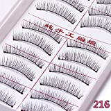 Generic 216 : Hot Natural Long False Eyelashes 50pcs Reusable Long Eyelashes Fake Eyelashes Handmade Fake Eyelashes Makeup Tools