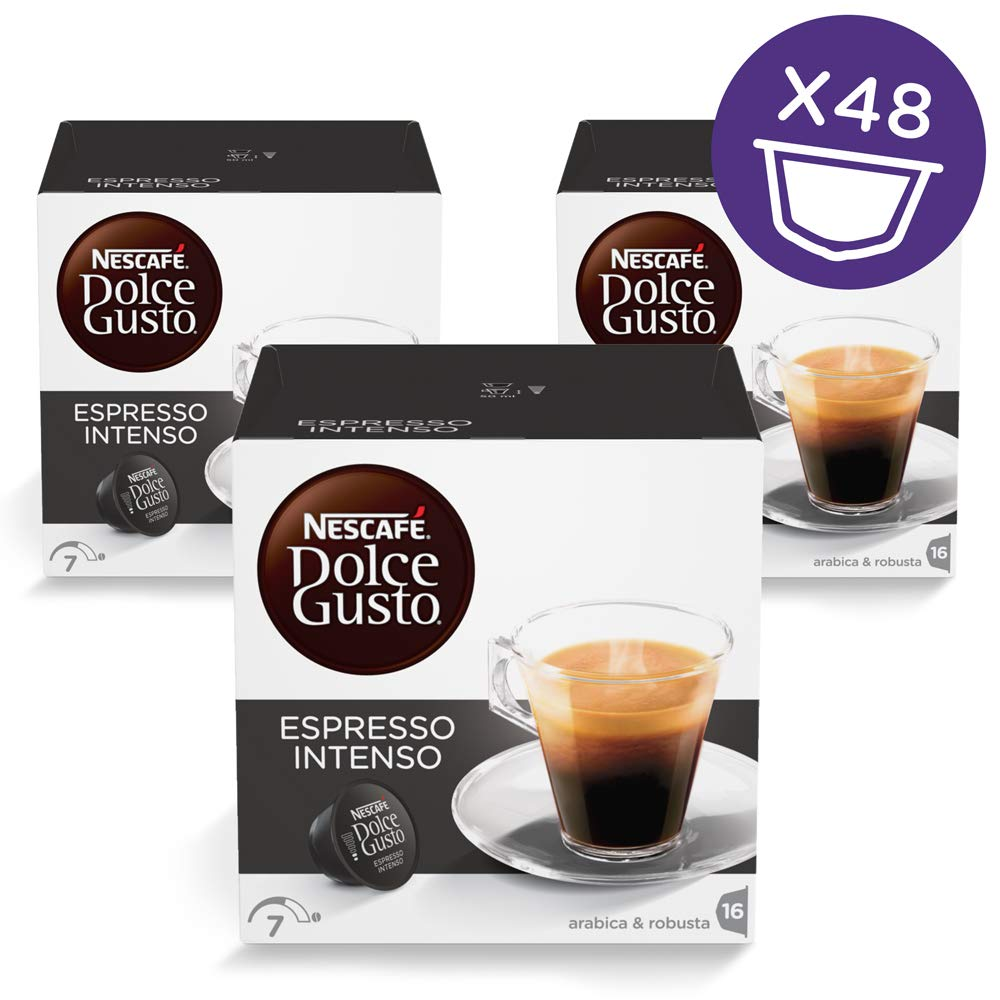 Nescafé Dolce Gusto Espresso coffee pods and capsules (a berry notes, black pepper, fruit notes, spicy notes coffee with aromas of fresh fruit and petals, spices and tobacco)
