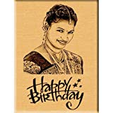 #2: Incredible Gifts India Incredible Birthday Gift - Engraved Wooden Photo Plaque (5x4)