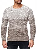 Redbridge Red Bridge Herren Strickpullover Grobstrick Pulli Sweatshirt Pullover Slim-Fit Fire-Crackle TRBC M3027 (Vision-Grau, XL)