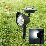Starnearby Solarleuchten für den Garten Outdoor Garten 3 LED Solarbetriebene Spot Landschaft Spot Licht LED Spotlight Lampe