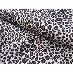 "Velboa de piel de leopardo animal tela de terciopelo material Cuddle suave -59""de ancho * Lynx * (se vende por metros)"