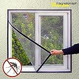 Hasëndad IG107453-Zanzariera per finestra, 100x 120cm colore: nero