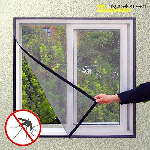 Hasëndad IG107453 Mosquitera para ventana, Negro, 100 x 120 cm