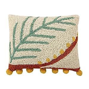 Lorena Canals Palm cuscino, cotone, poliestere, multicolore, 38x 48x 30cm