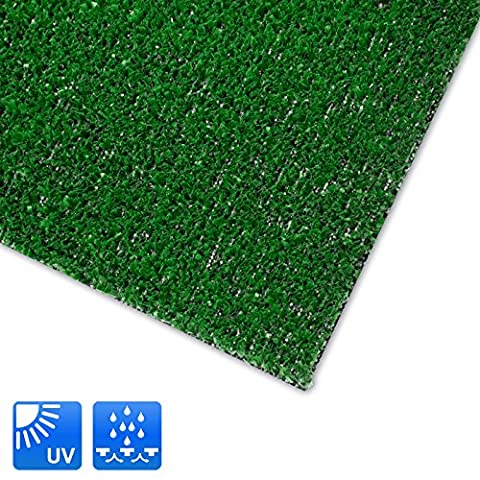 Moquette d'extérieur casa pura® Spring vert au mètre | tapis type gazon artificiel - pour jardin, terrasse, balcon etc. | revêtement de sol outdoor | 150x200cm