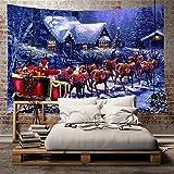 Hoomall Décoration de Chambre Tapisserie Murale Tapis de Yoga Décoration Extérieur et Intérieur Style Noël 200*180CM