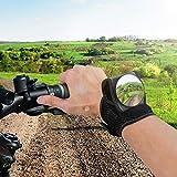 Fahrrad Spiegel, Furado Spiegel für Fahrrad, Fahrradspiegel, Rückspiegel Fahrrad, Fahrradspiegel Rückspiegel für e-bike MTB Mountainbike Rennrad Roadbike, Fahrrad Rückspiegel Arm(Schwarz)