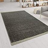 Tappeto Tessuto A Mano Tessuto Piatto Look Scandinavo mélange Motivo Jacquard in Grigio, Dimensione:140x200 cm