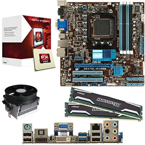 Cheap AMD Vishera FX-6300 6 Core 3.5Ghz CPU, ASUS M5A78L-M/USB3 Motherboard, 8GB DDR3 1600Mhz Crucial Ballistix RAM & Akasa Contac Pre-Built Bundle on Line