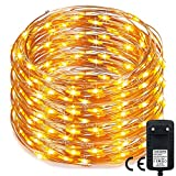 500 LED Weihnachten Lichterkette,RcStarry(TM) 165Ft/50M kupferdraht aufblitzende Lichterkette mit 500 LEDs innen und außen für Weihnachten/ Deko/ Party/ Hochzeit, Warmweiß - Not Just A Gadget