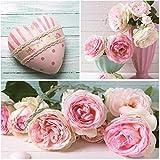 Serviettes Napkins 33x 33cm 20ST. packg. serviettage romantique roses Cœur Rose...