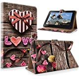 """art&cherry 7"""" (7Zoll) Tablet / Tablet-PC Hülle Case - Fintie Ultradünne Smart Shell Cover Lightweight Schutzhülle Tasche Etui Liebe"""