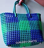#10: Small Cute Handmade Strong Multipurpose Washable Plastic Wire Bag(20L×20H×4W)(KOODAI)-Highly Durable- Colors May Vary
