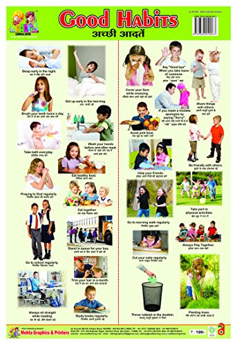 Wall CHARTS PLASTIC NON TEARABLE OF GOOD HABITS Book for Kids by Aadi Learning Arena