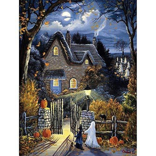 0 Piece Glow in the Dark Puzzle - Tess's Halloween by Artist Christine Carey - Spooky Trick-Or-Treat - Holiday - 300 pc Jigsaw ()