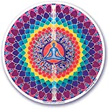 """Mandala Arte colorido adhesivo decorativo para ventana–4,5""""doble cara–"""" Lotus de meditación """"por Bryon Allen (S19)"""