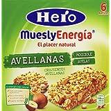 Barrita Hero Muesly Energía Avellanas - Pack de 6 x 25 g - Total: 150 g