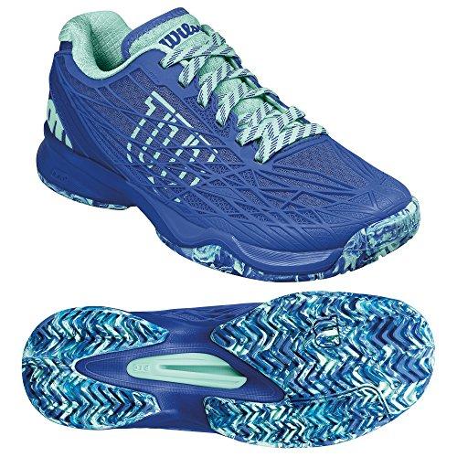 Wilson Women's Wrs322470e045 Tennis Shoes, Blue (Amparo Blue/Surf The Web/Aruba Blue), 4.5 UK