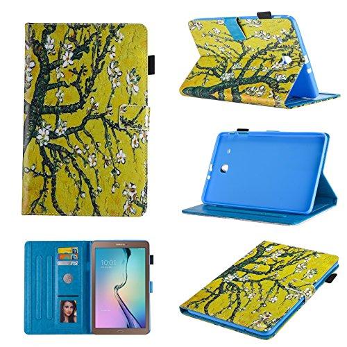 Uliking Galaxy Tab E 8.0Case Schutzhülle, PU Leder TPU Folio Fall mit Standfunktion Shell mit [Auto Wake/Sleep] [Karten Slots/Foto Slot] Schutzhülle für Samsung Galaxy Tab E 8.0sm-t377V/T377A,